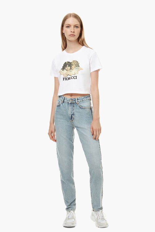 Tara Angels Patch Tapered Jean
