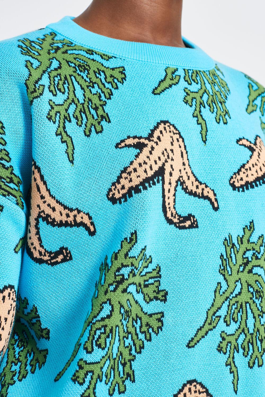 Starfish Knit Jumper Blue