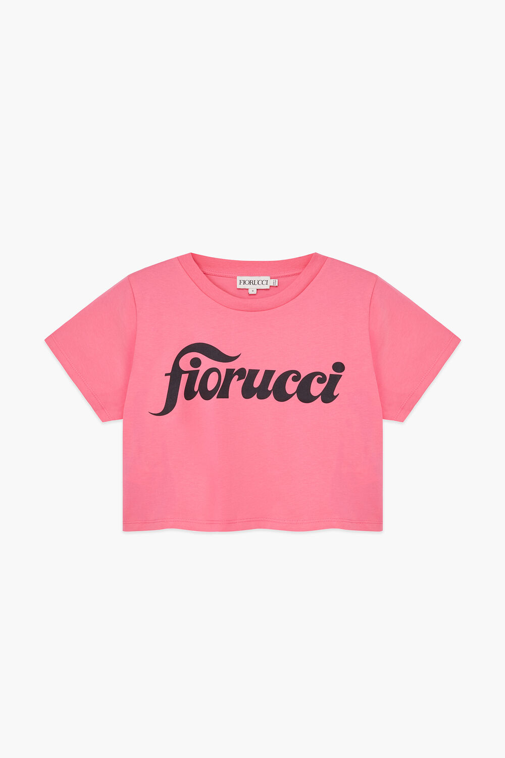 Swirly Logo Crop T-Shirt Pink