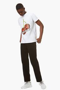 Cherry Graphic T-Shirt White
