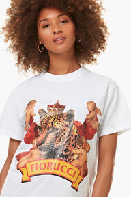 Cheetah Graphic Boyfriend T-Shirt White