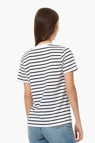 Striped Cherries Patch T-Shirt Black/White