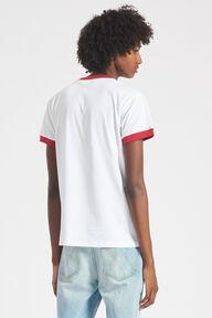 Pop Art Angels Ringer T-Shirt White