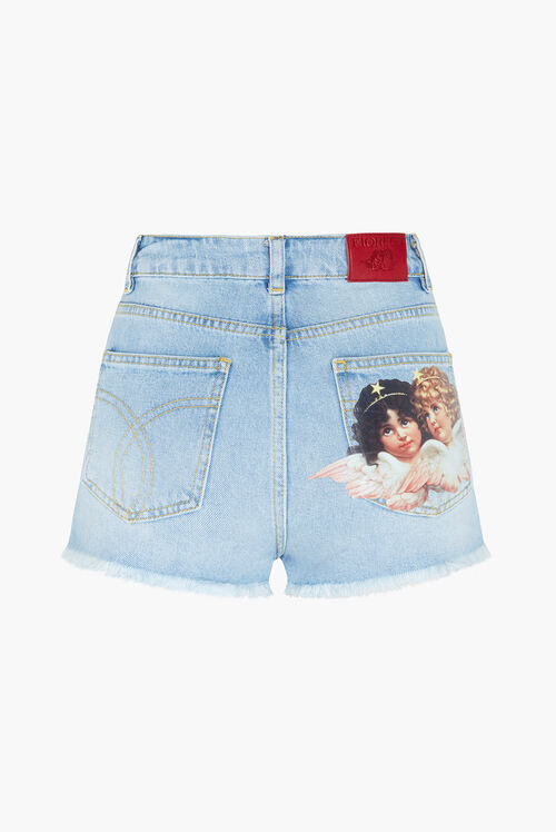 Angels Denim Shorts Blue