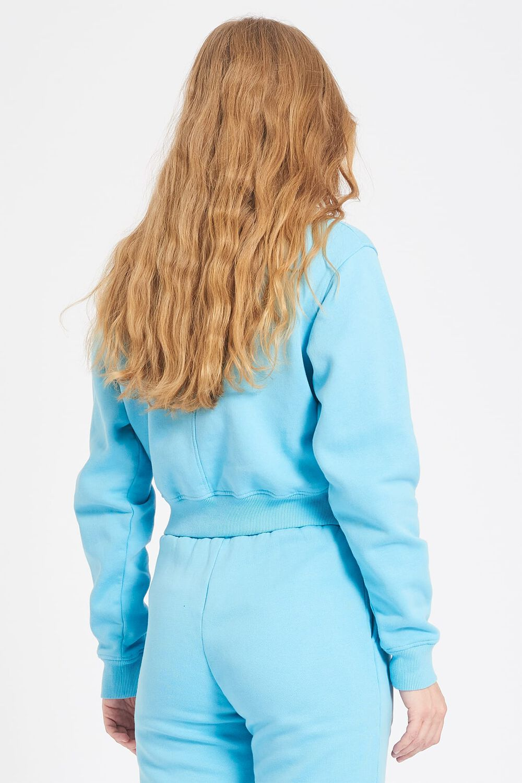 Snow Angels Crop Sweatshirt Blue