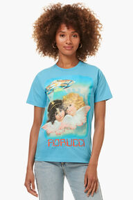Angels UFO Graphic T-Shirt Blue
