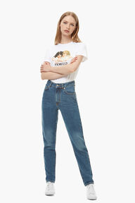 Tara Tapered Jean Dark Blue