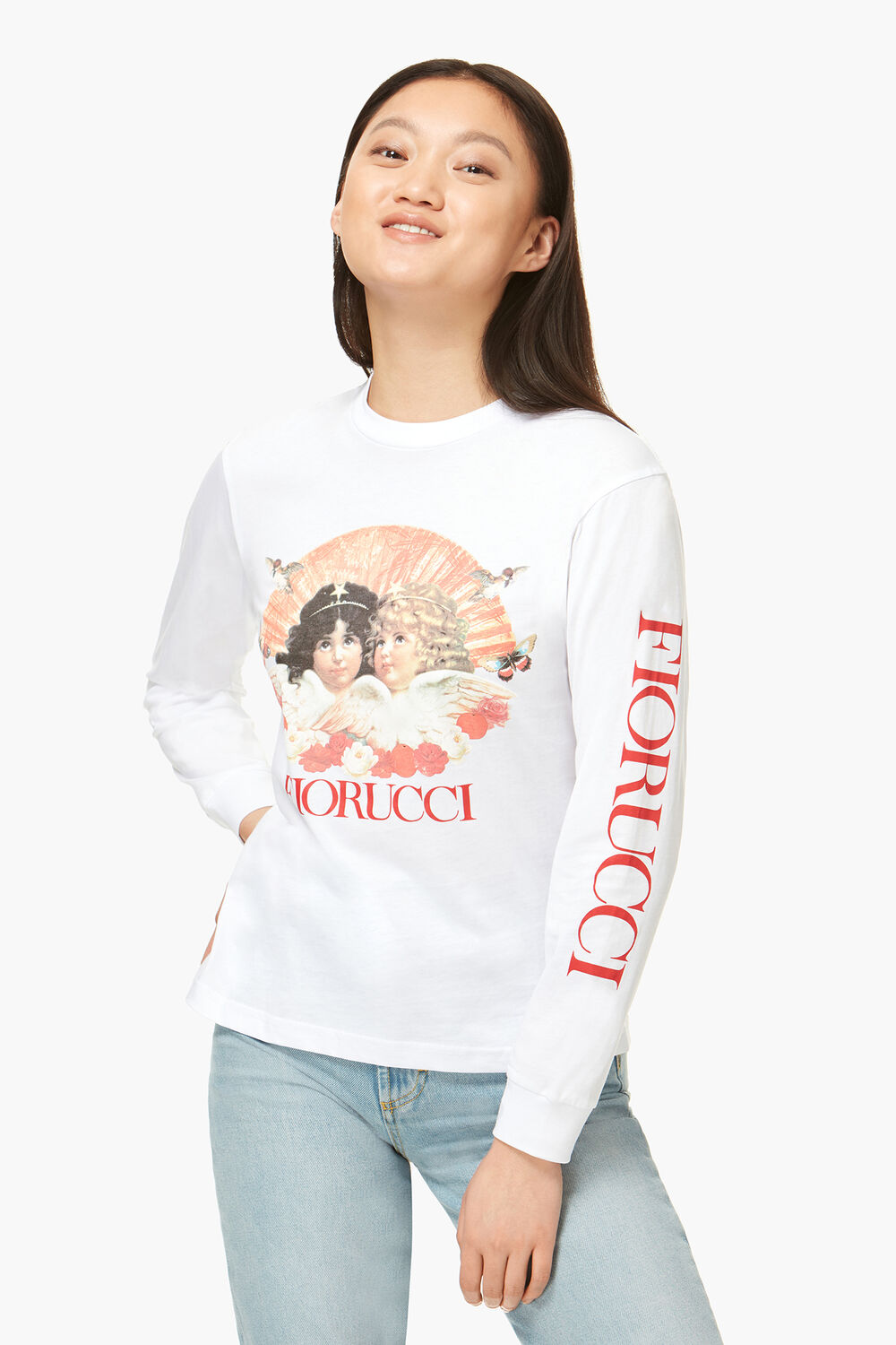 Lunar Capsule Long Sleeve Angels T-Shirt White