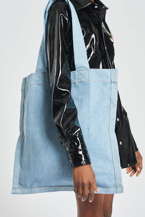 Icon Angels Denim Tote Bag Blue