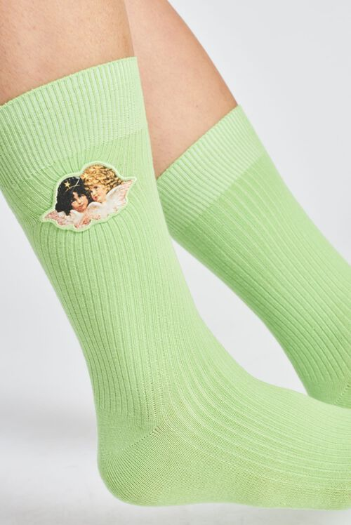 Angels Socks Lime Green