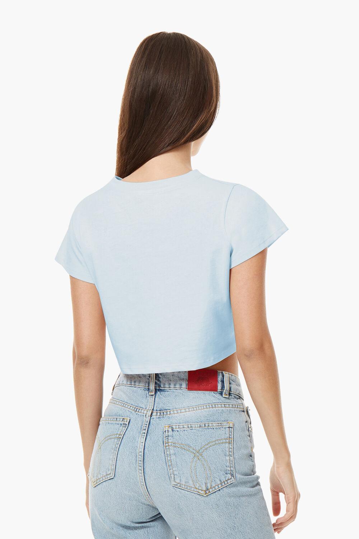 Vintage Angels Crop T-Shirt Pale Blue