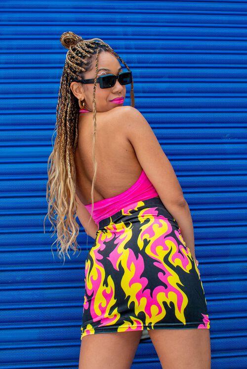 Tara Khorzad Flame Velvet Skirt Black