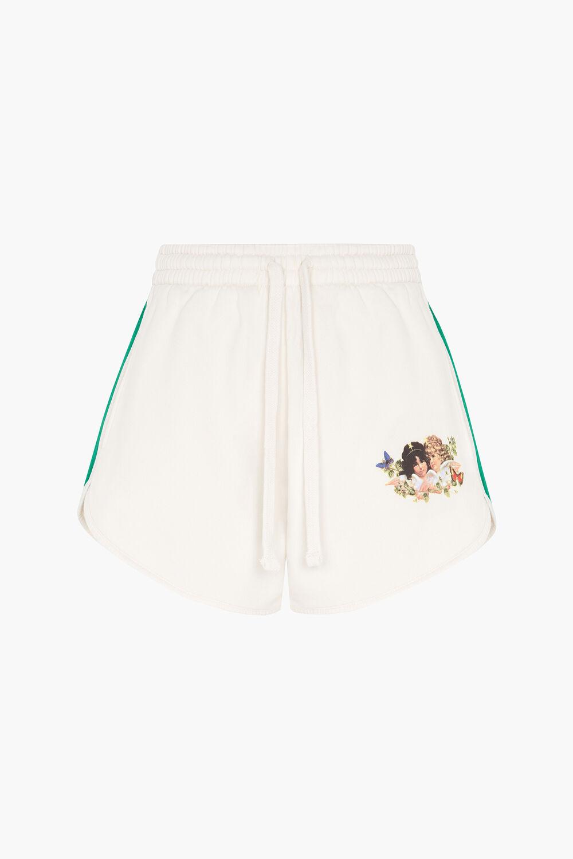 Woodland Angels Track Shorts Off White