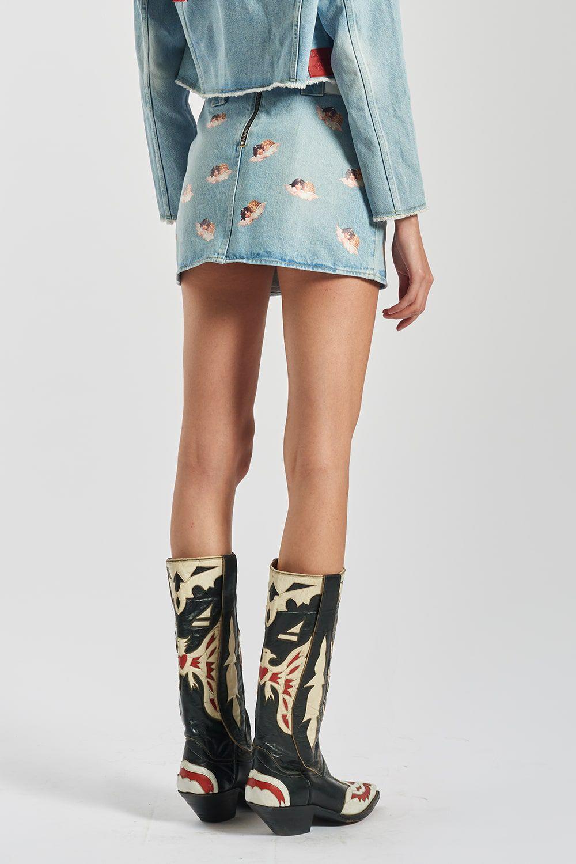 Angels Denim Skirt Blue
