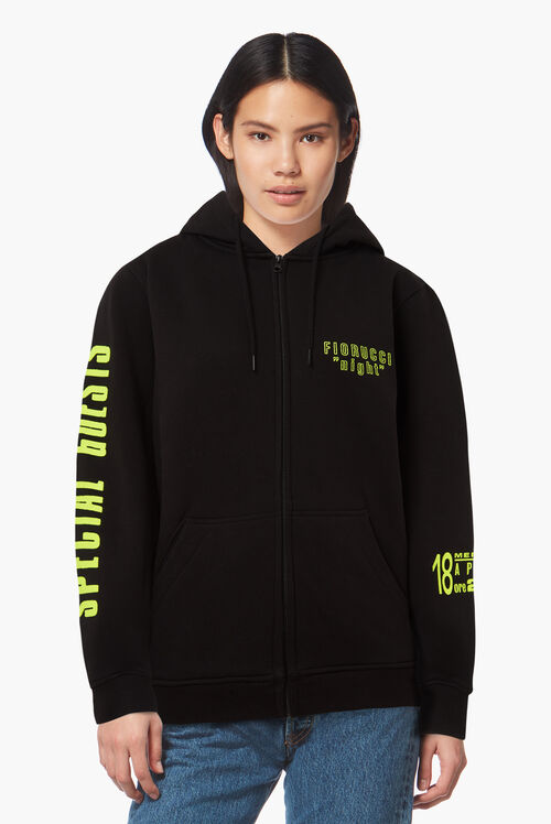 Night Zip Hoodie Black