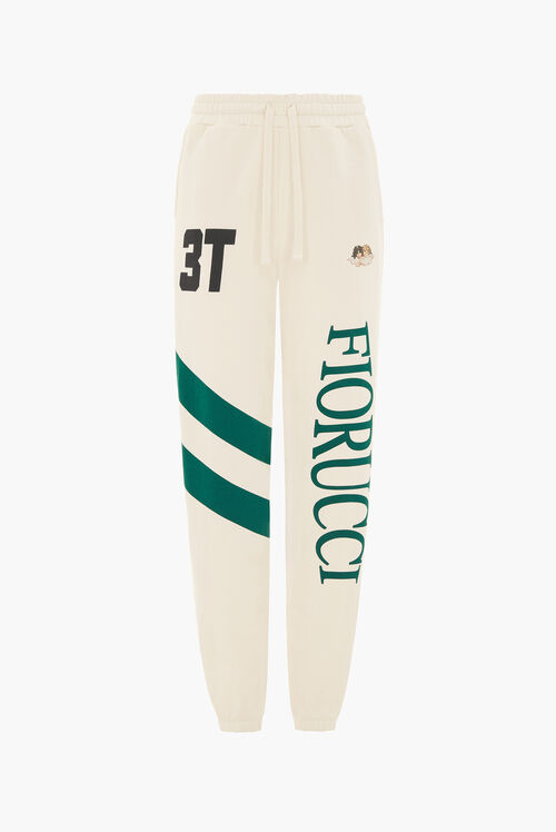 Logo Stripe Joggers Off White