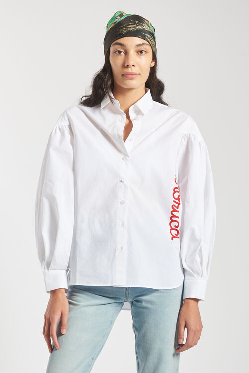 Puffy Sleeve Shirt White