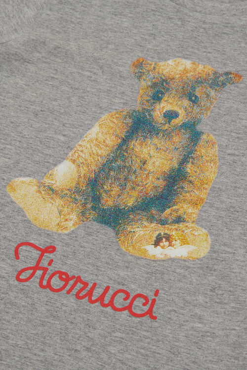 Kids Teddy Bear T-Shirt Grey