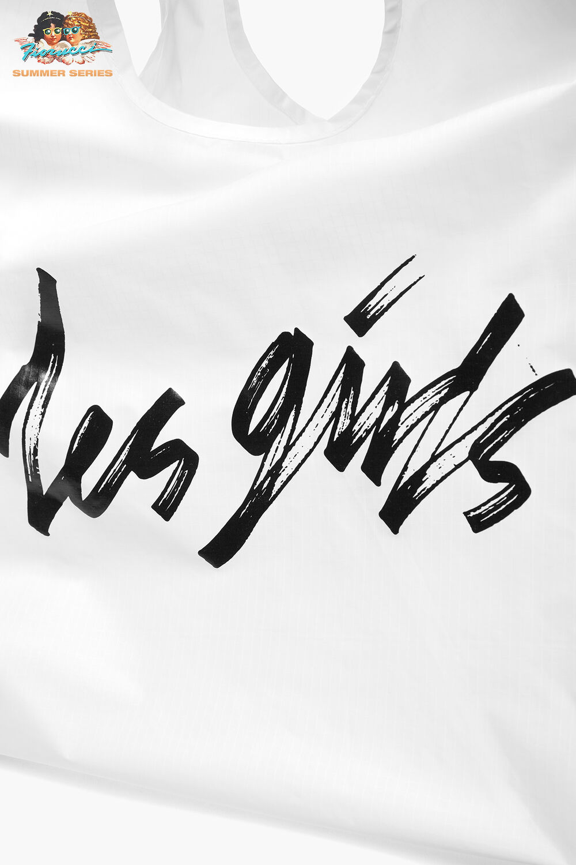 Les Girls Les Boys Logo Tote Bag White