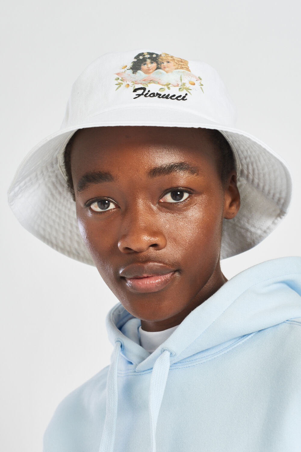 Daisy Angel Bucket Hat White