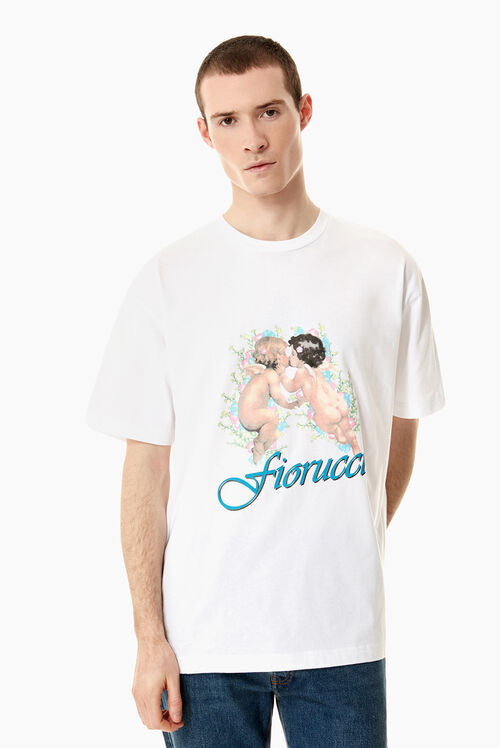Kissing Cherubs Oversized T-Shirt White