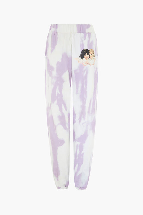 Angel Patch Tie Dye Jogger Lilac