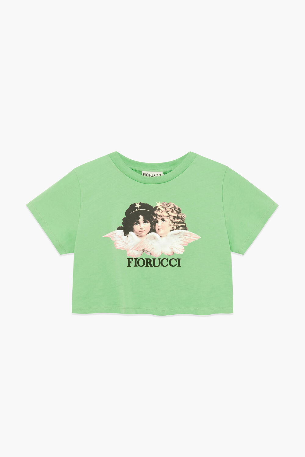 Angels Logo Crop T-Shirt Italian Green