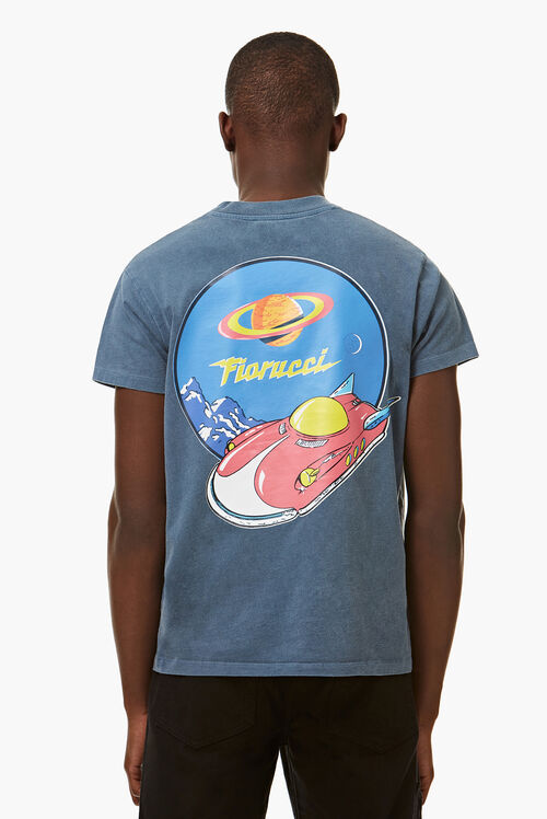 Spaceship Graphic T-Shirt Slate Grey