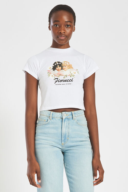 Daisy Angels Crop T-Shirt White