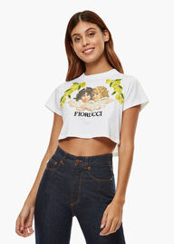 Tavi Crop Angels T-Shirt White