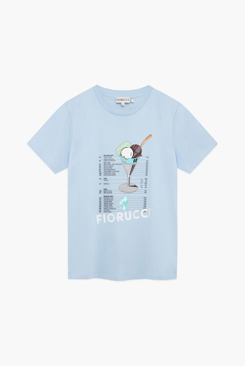 Gelato Graphic Logo T-Shirt Blue