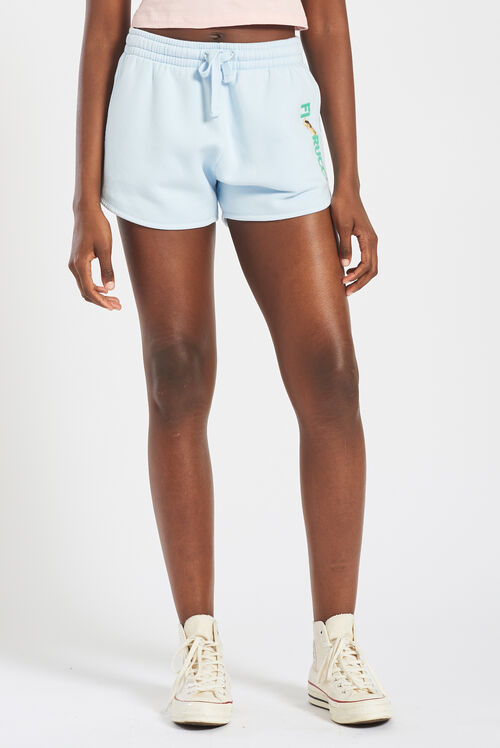 Embroidered Logo Angels Shorts Pale Blue