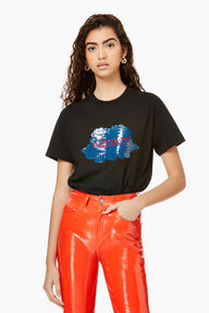 Sequin Angels T-Shirt Black