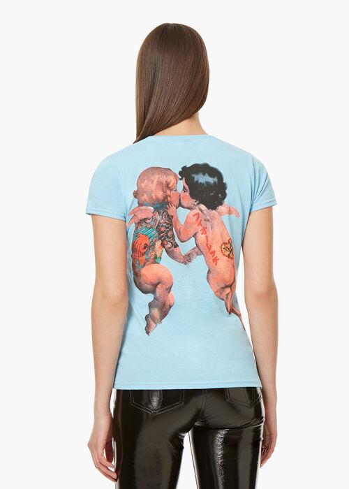 Tattoo Angels T-Shirt Blue