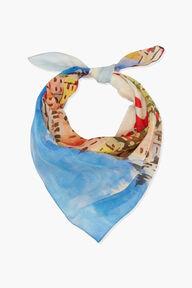 Portofino Print Bandana Scarf Blue