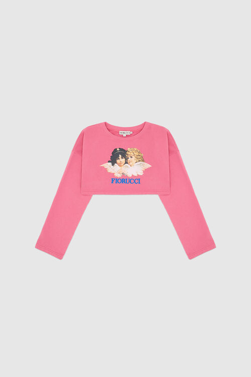Vintage Angels Super Crop Sweatshirt