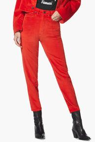 Tara Velvet Jean Red