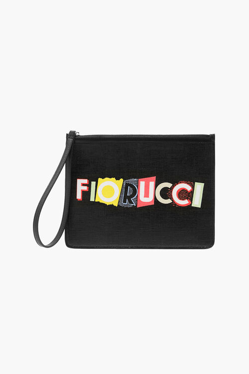All Over Print Logo Zip Top Pouch