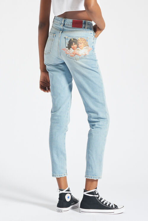 Angels Tara Tapered Jeans Blue