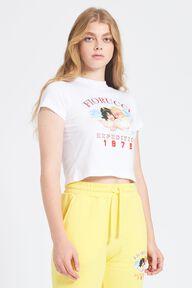 Snow Angels Crop T-Shirt White