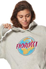 Globe Embroidery Hoodie