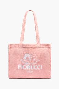 Milan Angels Towelling Tote Bag Pink