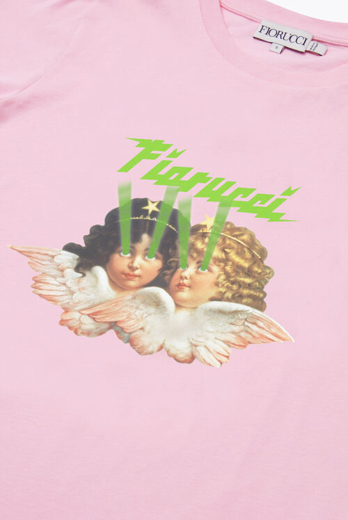 Angels Laser T-Shirt Pink