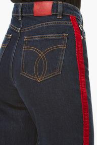 Tara Tapered Logo Jeans Medium Dark