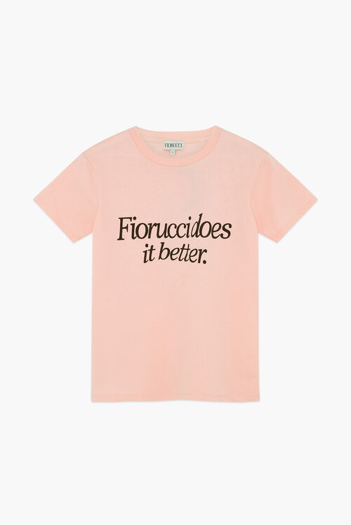 Does It Better Logo T-Shirt Pink