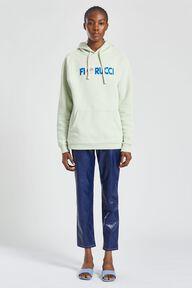 Embroidered Logo Angels Hoodie Mint Green
