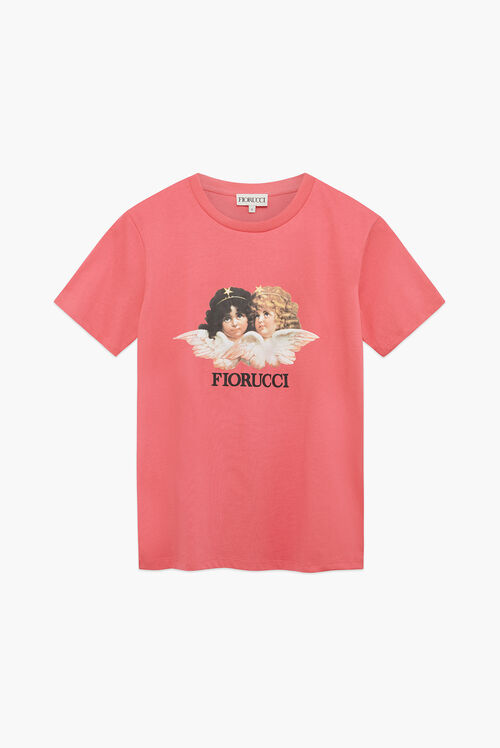 Vintage Angels T-Shirt Peach Pink