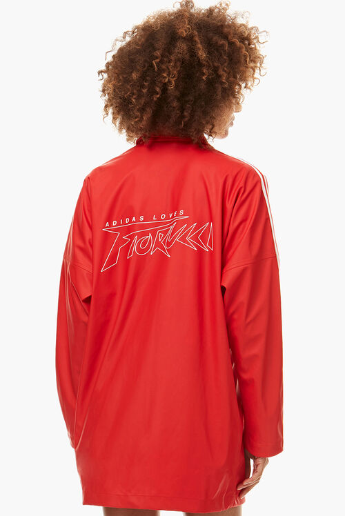 Adidas x Fiorucci Long Jacket Red