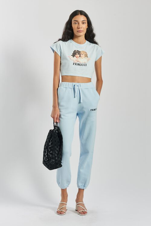 Angels Crop T-Shirt Pale Blue