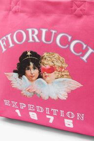 Snow Angels Tote Bag Fuchsia Pink